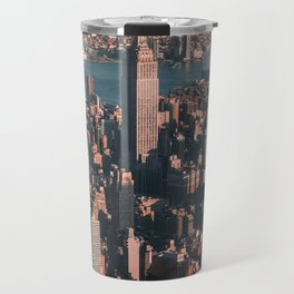 Empire State Building seen from a plane Travel Mug