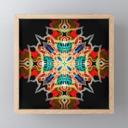 Ornament Vibrant Abstract Design Framed Mini Art Print