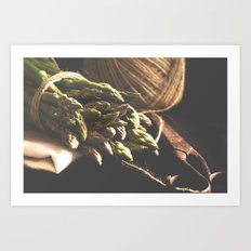 Fresch Asparagus on the table Art Print