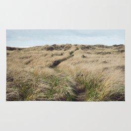 Oregon Dune Grass Adventure - Nature Photography Rug