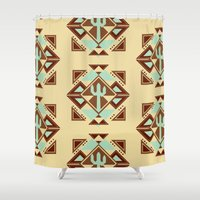 southwest Shower Curtains featuring Southwest by S. Vaeth