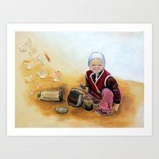 Childhood is Fleeting  Art Print