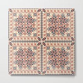 Palestinian embroidery pattern Metal Print