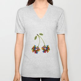 Cherry rubik Unisex V-Neck