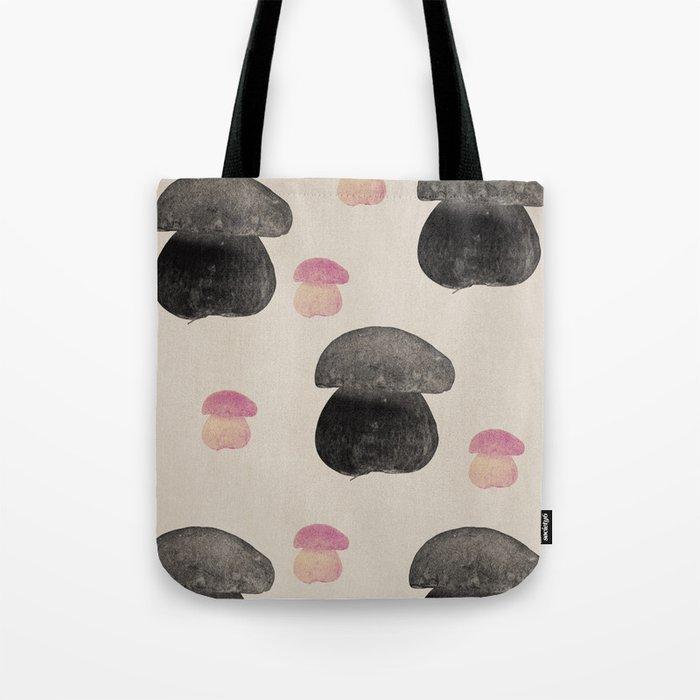 Black mushroom Tote Bag