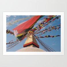 Prayer flags Art Print