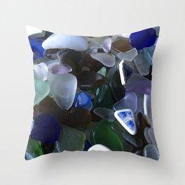 Sea Glass Assortment 4 Throw Pillow