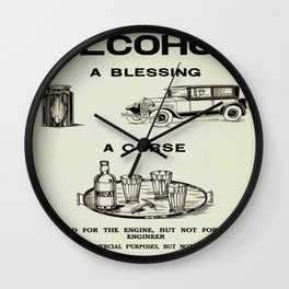 Prohibition Photographic Print Wall Clock