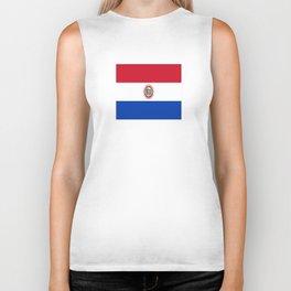 flag of paraguay -paraguyan,asuncion,spanish, south america, latin america,pan flute,coffee,forest Biker Tank