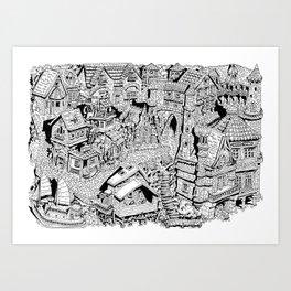 Capharnaüm City Art Print