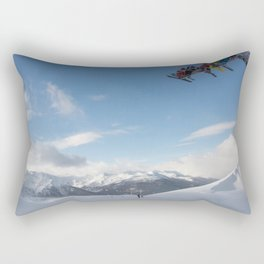 Skiers on chairlift 2 Rectangular Pillow
