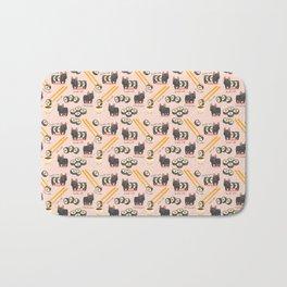 French bulldog maki sushi Bath Mat