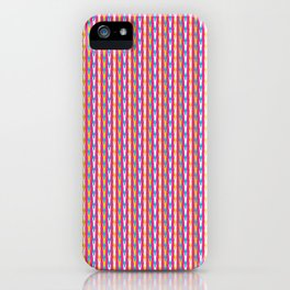 Dense summer drop stripes graphic seamless pattern. iPhone Case