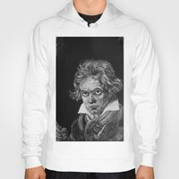 beethoven Hoodies featuring Beethoven by Sean Villegas