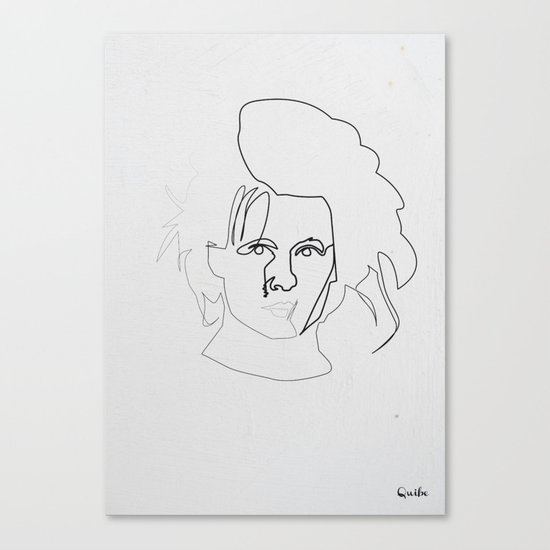 One line Edward Scissorhands Canvas Print