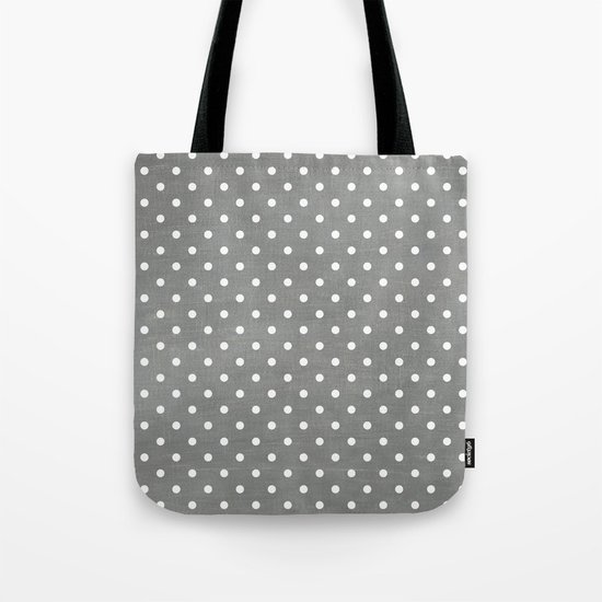 dark gray swiss dots Tote Bag