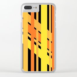 ORANGE AND YELLOW BEING FRIENDS Clear iPhone Case