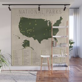 US National Parks Wall Mural