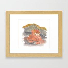Bathing Monkey Framed Art Print