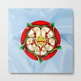 Tudor Rose Metal Print