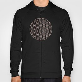 Mandala Flower of Life Rose Gold Space Stars Hoody