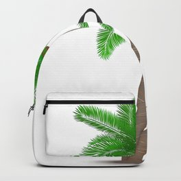 Tropical palm tree with coconuts symbol isolated vector illustration Backpack
