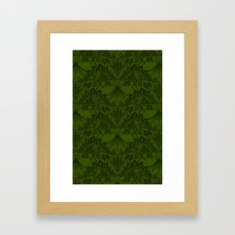 Stegosaurus Lace - Green Framed Art Print