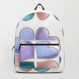 A pattern of pearl hearts in the shape of a clover Backpack