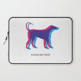In Dog We Trust Laptop Sleeve