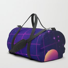 Universe Future Synthwave Aesthetic Duffle Bag