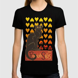 Le Chat Damour De Rodolphe Salis Valentine Cat T-shirt