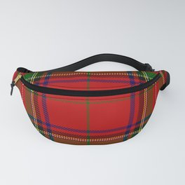 Red Tartan Plaid Fanny Pack