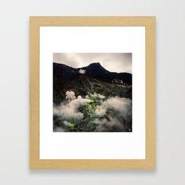 Owakudani Volcano in Hakone Japan Framed Art Print