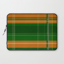 Green and Orange Plaid Laptop Sleeve