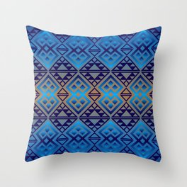 The Lodge (Blue) Throw Pillow