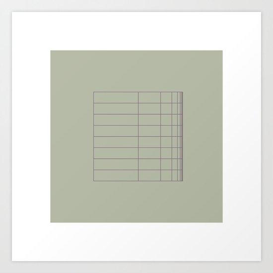 #8 A grid bent – Geometry Daily Art Print