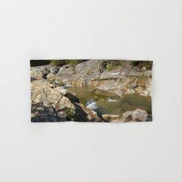"""Bathtub Rocks"" and Weathered Old Barns, No. 1 Hand & Bath Towel"