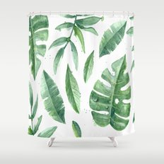 Leaves of the tropics Shower Curtain