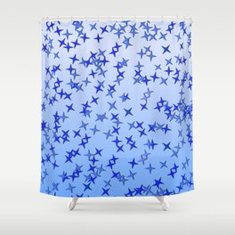 Blue Stars Shower Curtain