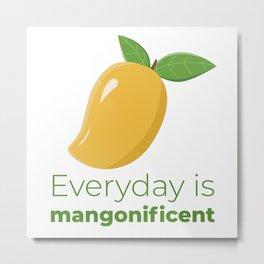 Fresh Summer Mango Pattern Metal Print