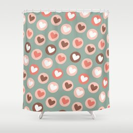 endless love vintage pattern wall art print Shower Curtain