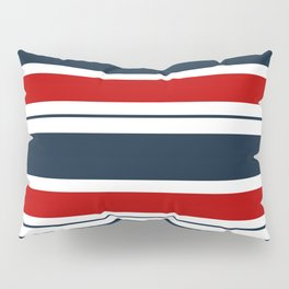 Red, White, and Blue Horizontal Striped Pillow Sham