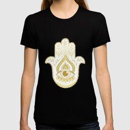 Hamsa Hand - Gold T-shirt