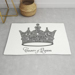 County of Queens | NYC Borough Crown (GREY) Rug