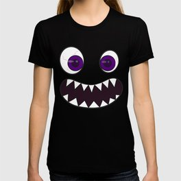 Happy Monster Costume Halloween Cute Funny Face Clear Eyes T-shirt