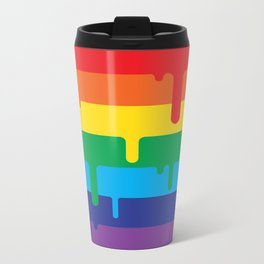 DRIPPY RAINBOW Metal Travel Mug