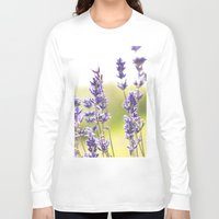 lavender Long Sleeve T-shirts featuring lavender  by world pictured