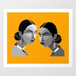 Boho Women Art Print