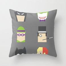 Batimalism Throw Pillow