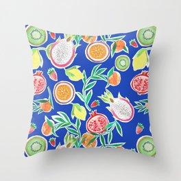 Fruit Collage Throw Pillow